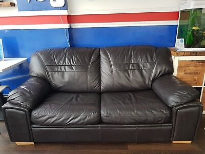 Excellent Black Leather Sofa Bed Used Two Seater Good Condition Machost Co Dining Chair Design Ideas Machostcouk