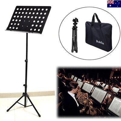 Heavy Duty Orchestral Sheet Music Stand Height & Angle Adjustment With Carry Bag
