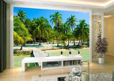 Lush Coconut Trees 3D Full Wall Mural Photo Wallpaper Printing Home Kids Decor