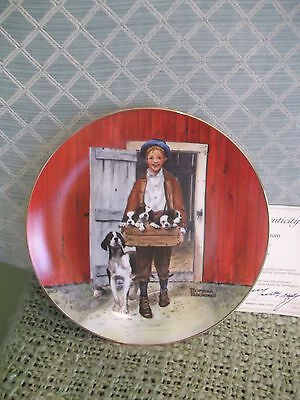 PUPPY LOVE Strictly Ltd Ed.1981 Classic PLATE Collection Norman Rockwell Museum