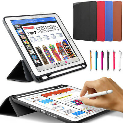 "For iPad Pro 10.5""/12.9"" 2017 Case PU Slim Smart Cover With Apple Pencil Holder"
