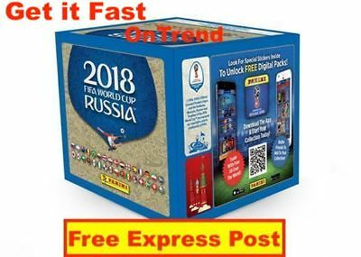 Panini FIFA World Cup Soccer 2018 Stickers, Sealed Box 250 Stickers EXPRESS POST