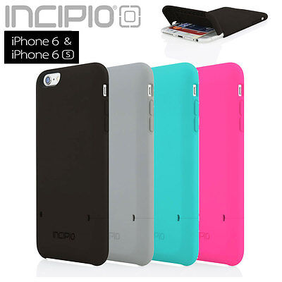 """Incipio iPhone 6S 6 Case 4.7"""" Stashback Credit Card Dual Layer Wallet Flip Cover"""