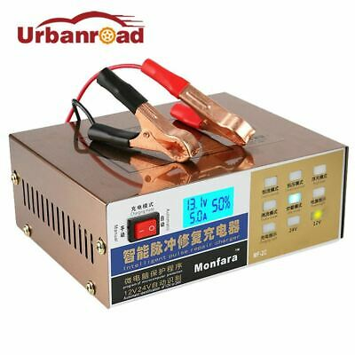 Car Motorbike Battery Charger 12v 24v Full Electric Pulse Repair Type 100AH