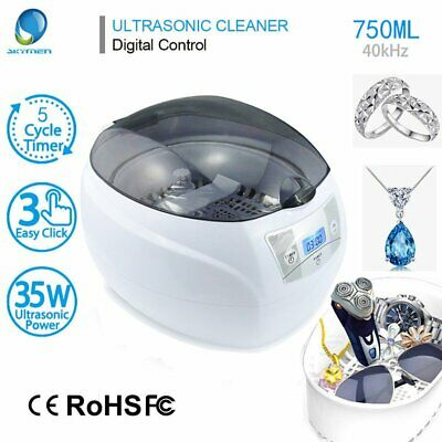 Digital Ultrasonic Cleaner Bath For Cleaning Jewelry Glasses Circuit Board 750ml