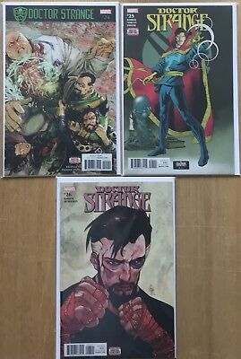 Doctor Strange Comic #24 - #26 (2017) 1St Printing Bagged & Boarded Marvel