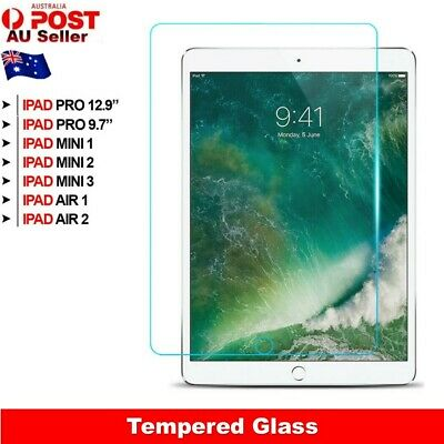 Tempered Glass Screen Protector For iPad Pro 12.9 10.5 9.7 Mini 4 3 2 1 Air 1 2