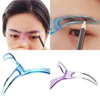 EYEBROW SHAPER TEMPLATE Pro Stencil Fast Easy Shaping Brow Grooming ...