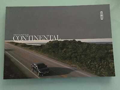 2017 Lincoln Continental 40 Page Sales Brochure - Rare Mis-Print Cover!