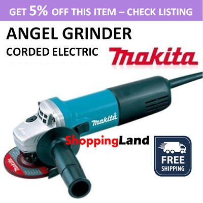 New Makita Angle Grinder 850W 125mm MT Series Power Corded Grinding M9511G