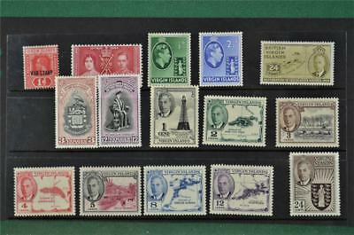 15 Virgin Islands Stamps To 24 Cents  H/m & U/m   (R26)