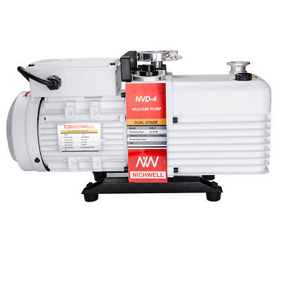 NEW NICHWELL NVD-4 2.8 cfm Corrosion-Resist Commercial Grade 2-Stage Vacuum Pump