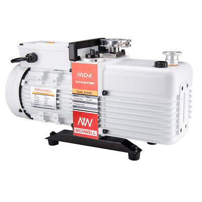 NEW NICHWELL NVD-8  5.6cfm Corrosion-Resist Commercial Grade 2-Stage Vacuum Pump
