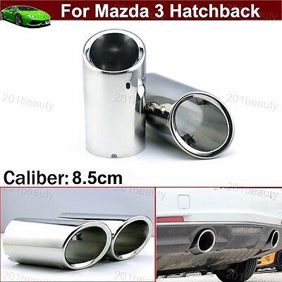 Exhaust Pipes & Tips Car & Truck Parts 2Pcs Double Exhaust Muffler Tail Pipe Tip Tailpipe for Mazda 3 Sedan 2014-2019