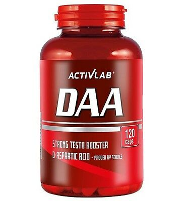 ACTIVLAB DAA D-Aspartic Acid 120 CAPS. TESTOSTERONE BOOSTER - FREE SHIPPING !