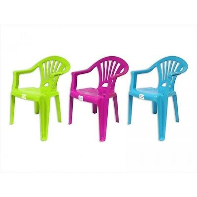 NEW Kids Children Plastic Chair Stackable Home Picnic Party Child Up To 22.5kg