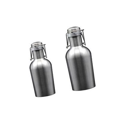 Baoblaze Beer Growler 1L 1.9L Stainless Growler with Swing Top Lid Freshness