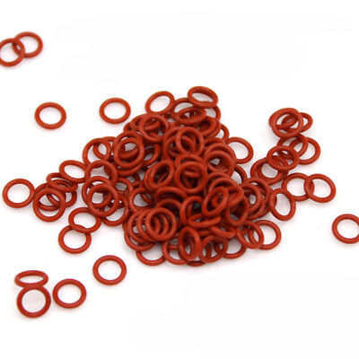 50x Silicon Rubber O-Ring Seals Washer Gasket Food Grade OD 10-70mm Wire Dia 3mm