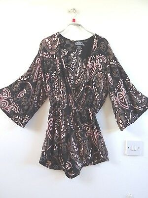 Unbranded vintage rayon Indian hippy/festival/summer/boho playsuit XS short body