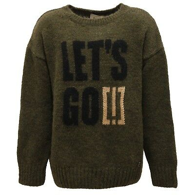 8108V maglione bimba IMPERFECT military green sweater kid