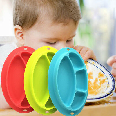 Kids One Piece Silicone Placemat Suction Plate Dish Food Tray Table Mat For Baby