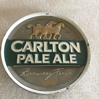 CARLTON PALE  ALE Beer Tap Badge,Top Great Condition