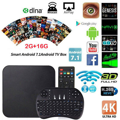 MXQ Pro S905W 4K 2G+16G Android 7.1 Quad-Core WiFi Smart TV Box + I8 Keyboard