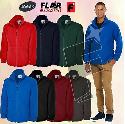 Uneek Classic Full Zip Fleece Jacket UC604 7Colour (XS-6XL) Work Wear Causal Top