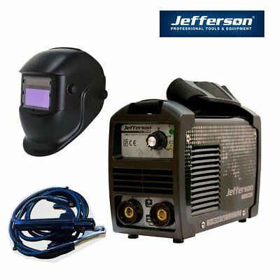 Jefferson Tools 140A Arc Stick Welder Inverter High Duty Cycle Plus  Auto Helmet