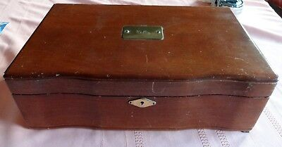 "Vintage Reed & Barton Wood 9x14"" Jewelry Box by Eureka MFG Co Stamped March 1964"