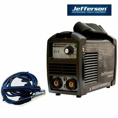 Jefferson Tools 140A DC Inverter Arc Welder High Duty Cycle 230v 13amp Plug