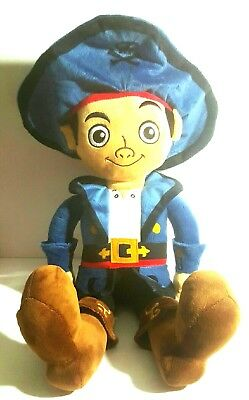 """Jake and the Never land Pirates 20"""" Jake Doll Plush Disney with Pirate Hat RARE"""