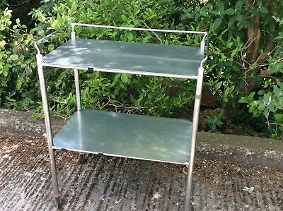 Vintage 1950/60s  Hospital Stainless Steel Trolley, for bathroom or kitchen.