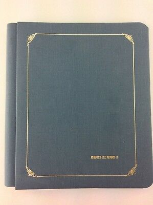 Creative Memories 8x10 Blue W Gold Embossing Scrapbook Album No