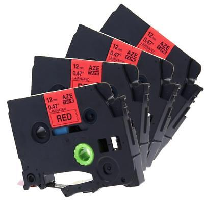 1PK Black on Red TZ431 TZe431 Label Tape for Brother P-touch PT-D400AD12mm 1//2/""