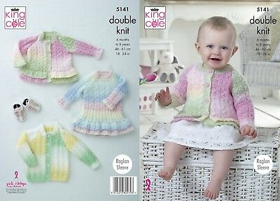 KINGCOLE 5141 - Baby DK Knitting Pattern -sizes 18-24 - Not the finished items