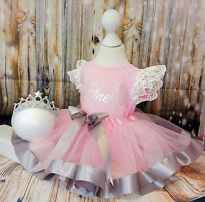 baby girl first 1st birthday outfit tutu cake smash photo shoot party dress
