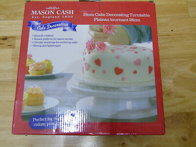 CAKE TURNTABLE [28cm] BY MASON CASH - NEW AND PERFECT