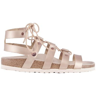 95e926d59f6a PAPILLIO BY BIRKENSTOCK Cleo Frosted Metallic Rose Women Leather Strappy  Sandals -  113.94