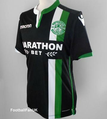 HIBERNIAN FC Macron Away Shirt 2017-2018 NEW 17/18 Hibs Football Jersey Top