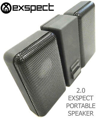 Exspect Loud 2.0 Stereo Sound Portable Wired Speaker USB/AUX 3.5mm Audio Jack