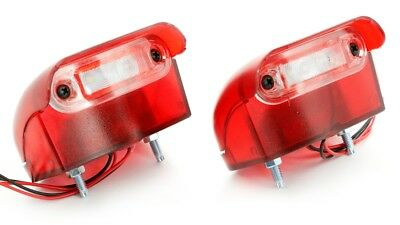 2x LED Rear Marker &Number Plate Lights Lamps 24V for Truck DAF Volvo MAN SCANIA