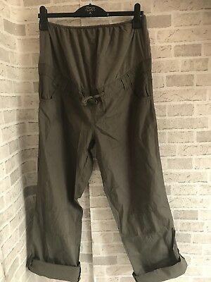 Blooming Marvellous Pregnancy Maternity Trousers Khaki Over The Bump Cargo