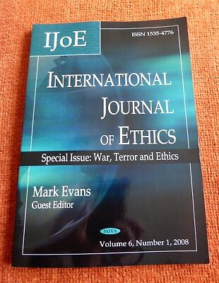 International Journal of Ethics: Special Issue: War, Terror and Ethics (Nova)