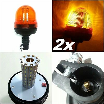 Pair of Led Flashing Strobe Yellow Amber Lamp For McCormick Tractor