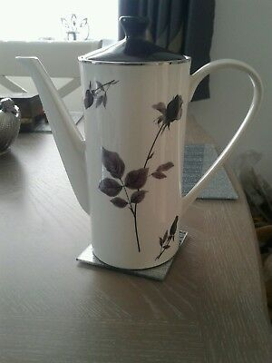 Lord Nelson vintage retro 1960s on coffee pot  black roses
