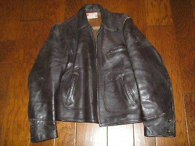 befdce22822 MEN S VINTAGE HORSEHIDE LEATHER JACKET Made in California U.S.A. ...