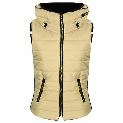 Kids Girls Boys Stone Puffer Bubble Sleeveless Hooded Gilets Body Warmer Jacket