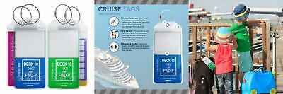 Shacke Cruise Tags Zip Seal - Etag Holders & Steel Loops