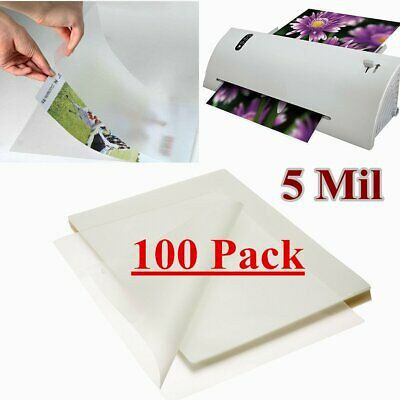 100 Qty Letter Size Thermal Laminating Pouches 9 x 11.5 inch 5 Mil Free Shipping